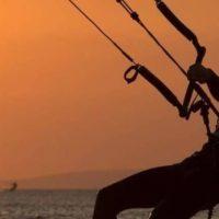 Kitesurfer auf den Kanarischen Inseln