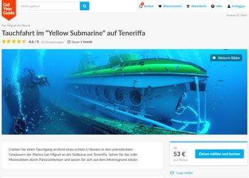 U-Boot fahren auf Teneriffa