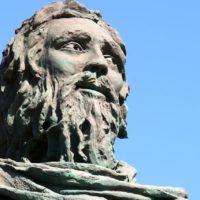 Guanchen Statue auf Teneriffa