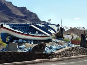 Boot in Las Playitas, Fuerteventura