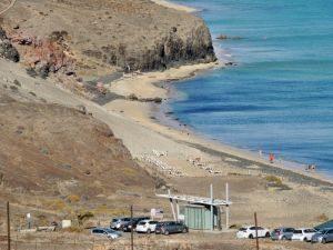 Parkplatz am Strand Playa Mal Nombre, Fuerteventura