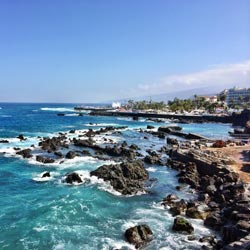 Blick auf die Promenade in Puerto de la Cruz
