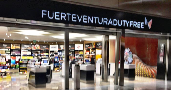Dutyfree am Flughafen auf Fuerteventura